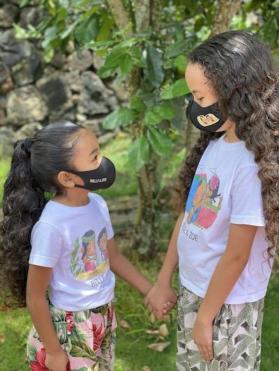 Zoe and Belle in Belle & Zoe Face Masks
